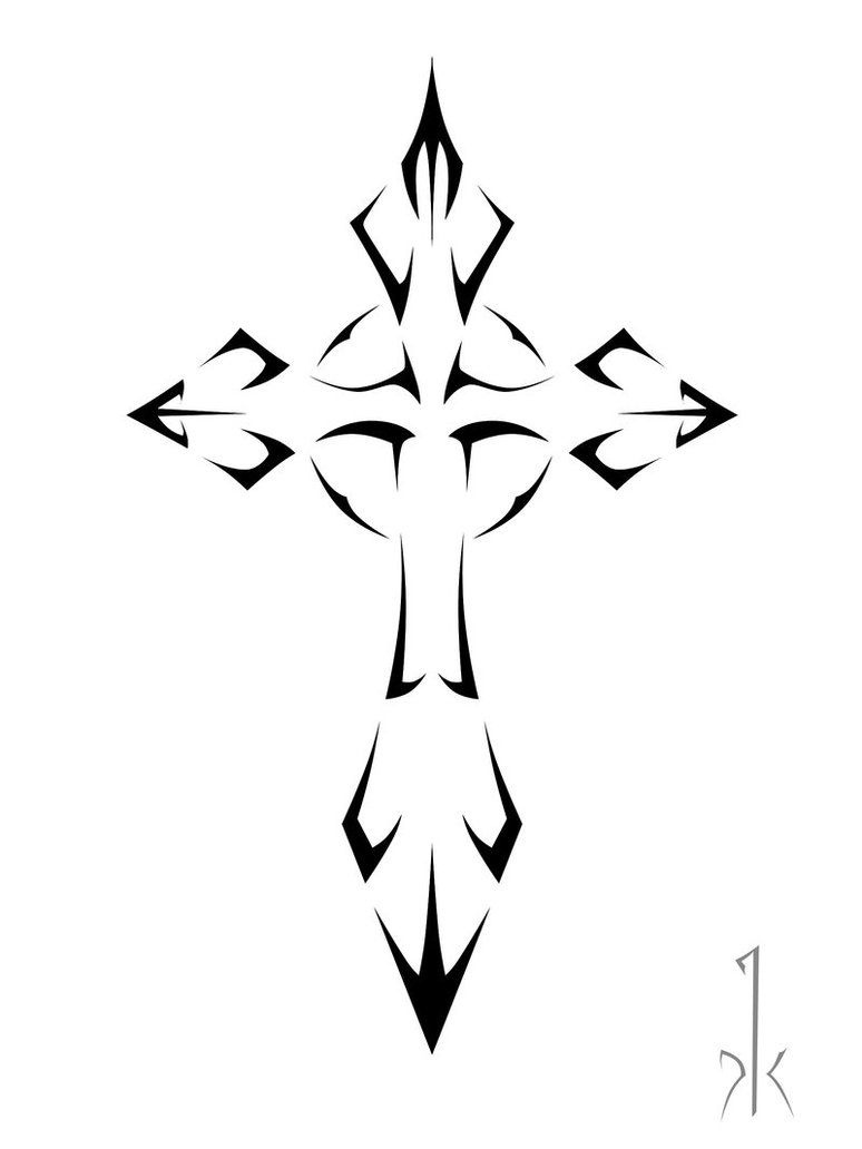 Tribal Cross Tattoo Sample | Tattoobite | Tribal Tattoo | Tribal - Free Printable Cross Tattoo Designs