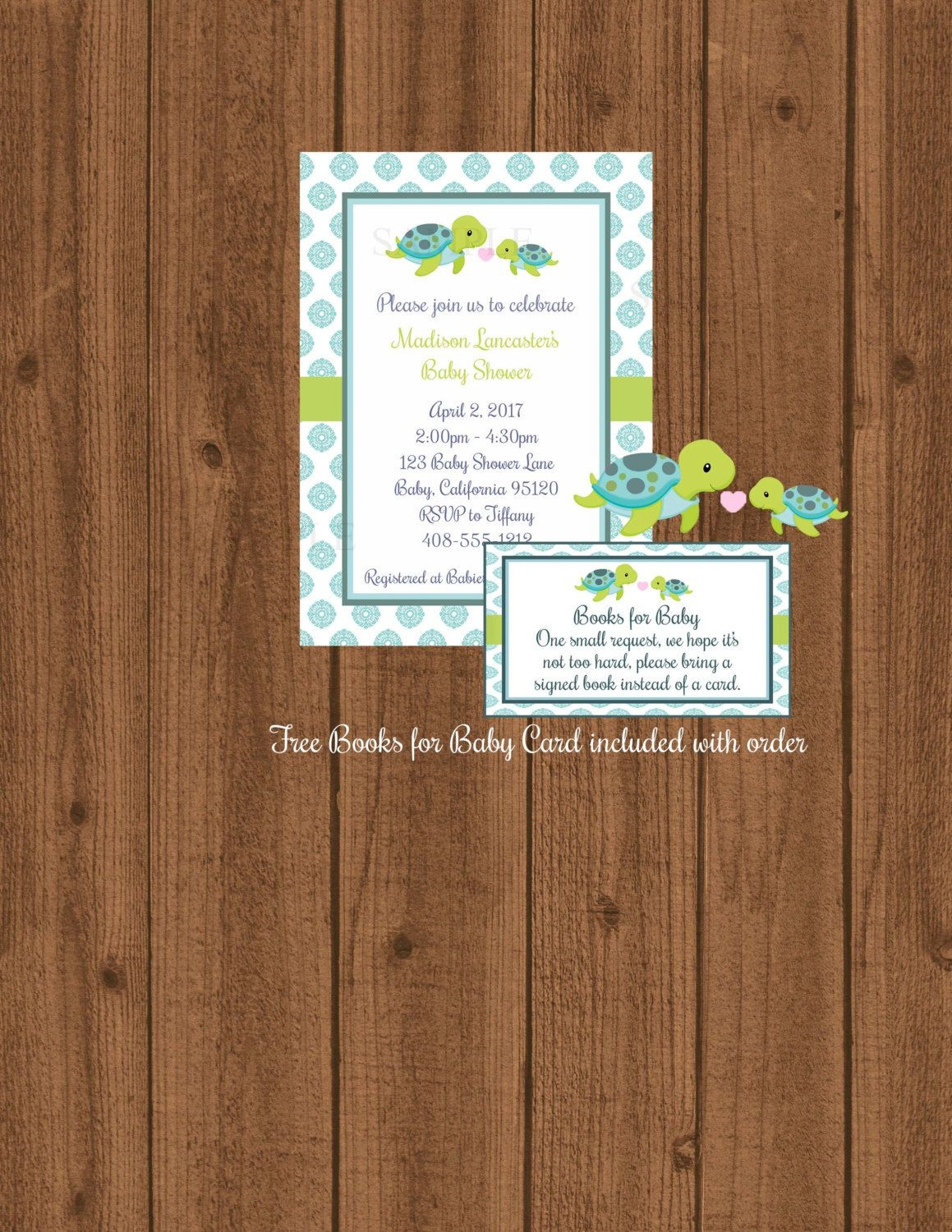 Turtle Baby Shower Turtle Invitation And Bookssweetpartywishes - Free Printable Turtle Baby Shower Invitations