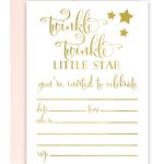 Twinkle Twinkle Little Star Foil Invitations   Chicfetti   Free Printable Twinkle Twinkle Little Star Baby Shower Invitations