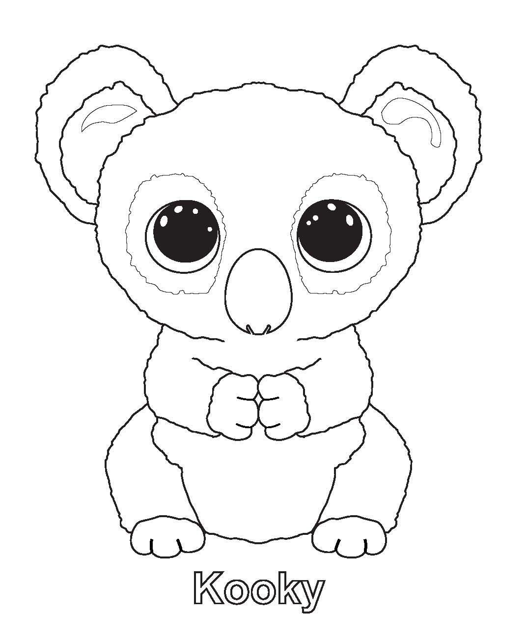 Ty Beanie Boo Coloring Pages Download And Print For Free | Boos - Free Printable Beanie Boo Coloring Pages