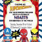 Unique Free Printable Superhero Birthday Invitation Templates | Best   Free Printable Superhero Birthday Invitation Templates