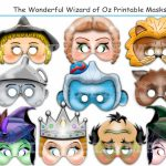 Unique Wizard Of Oz Printable Maskselements Oz Party | Etsy   Free Printable Wizard Of Oz Masks