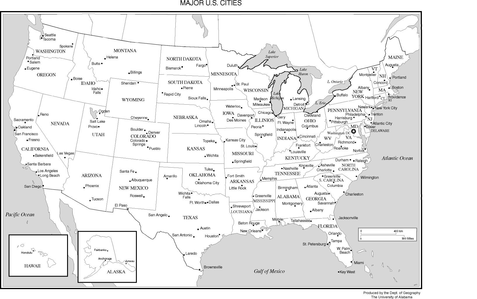 United States Labeled Map - Free Printable Labeled Map Of The United States