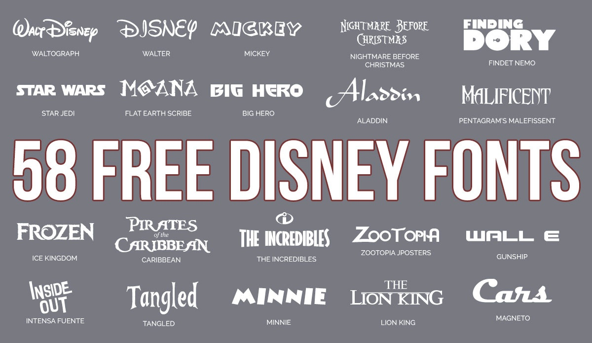Updated: 59 Free Disney Fonts (June 2019 Edition) - Free Printable Disney Alphabet Letters