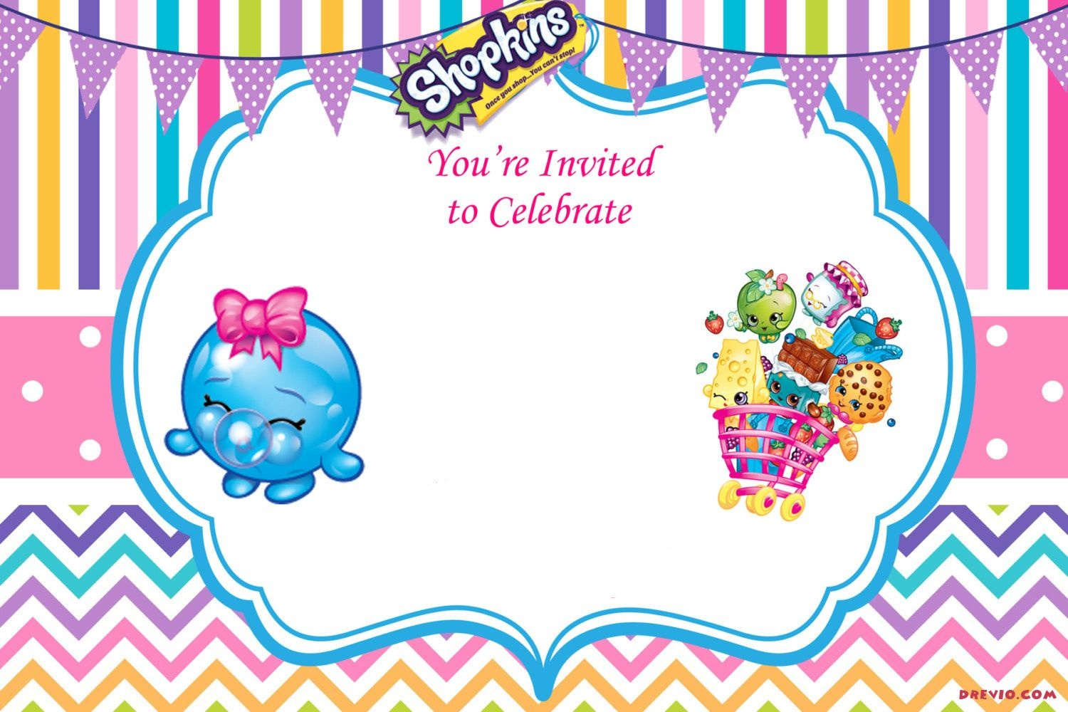 Updated - Free Printable Shopkins Birthday Invitation | Event - Free Printable Shopkins Birthday Invitations