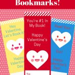 Valentine Bookmarks For Your Child's Class! Mix And Match 6   Free Printable Valentine Bookmarks