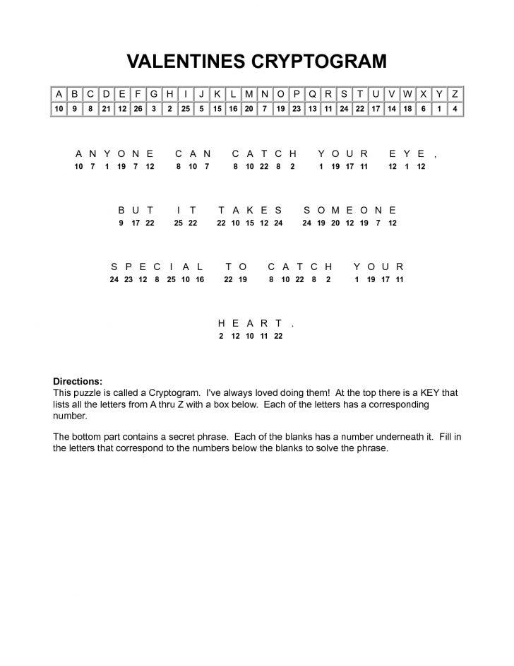 Free Printable Cryptograms Pdf