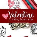 Valentine Heart Bookmarks To Print And Color | Carla Schauer Designs   Free Printable Valentine Bookmarks