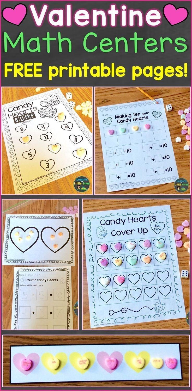 Valentine Math Centers & Free Printables | Kindergarten Math | Math - Free Printable Math Centers