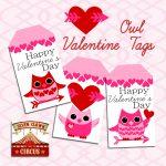 Valentine Owl Printable Tags {Free Printable} | Valentine's Day   Free Printable Valentine's Day Stencils