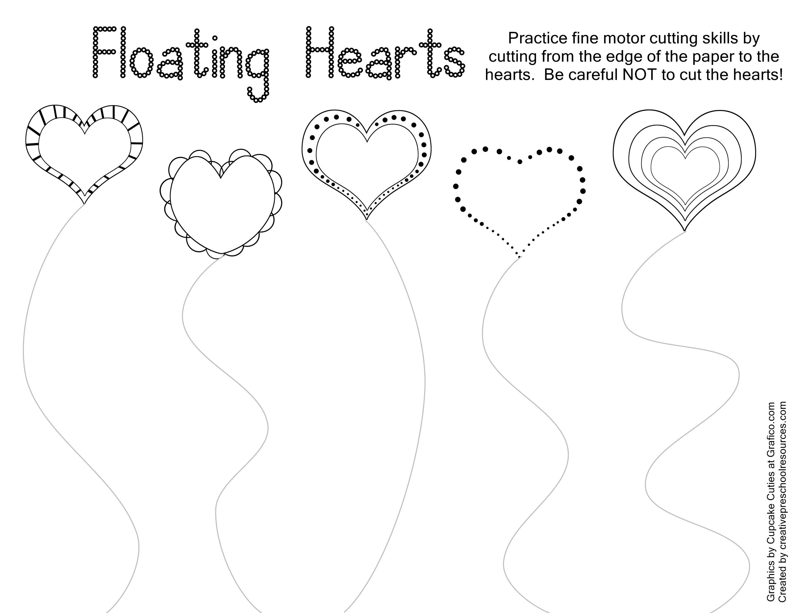Valentine Trace & Cut Printables | Kids Stuffs | Cutting Practice - Free Printable Preschool Valentine Worksheets