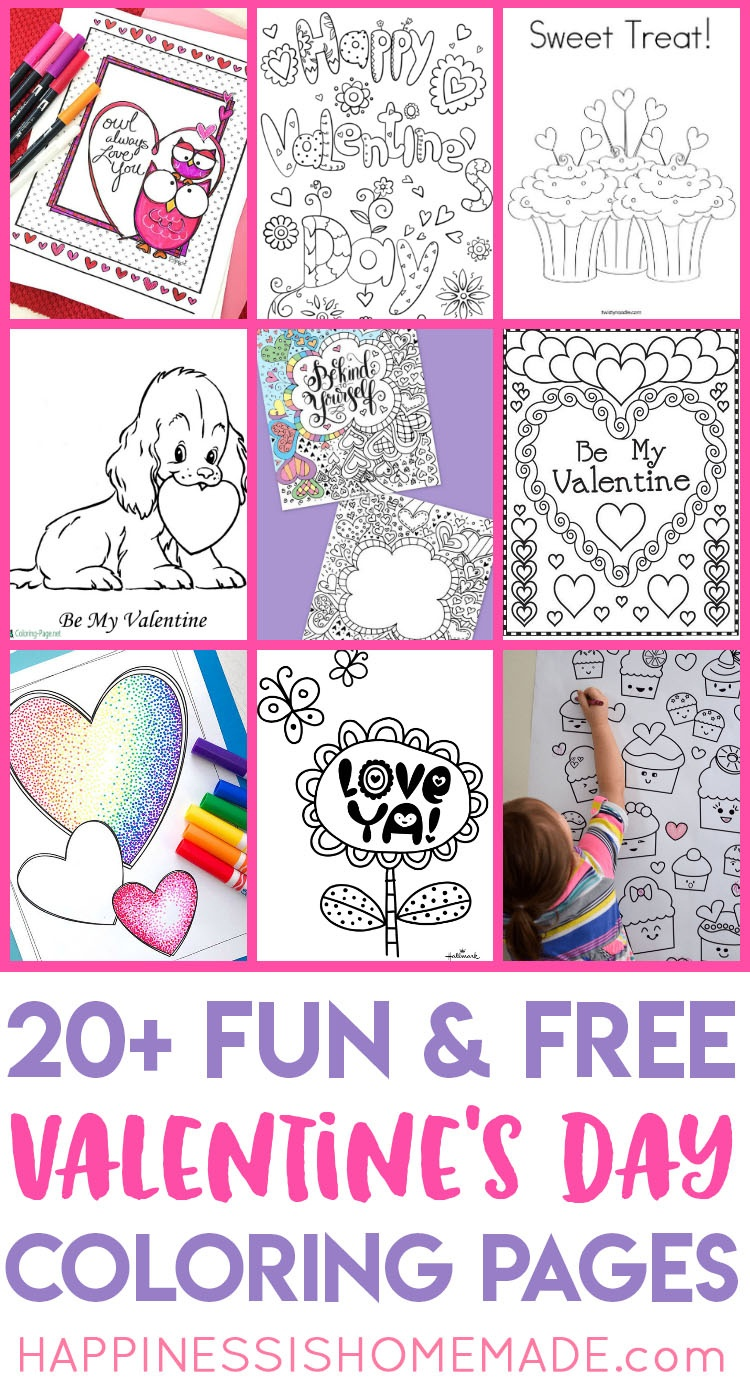 Valentines Coloring Pages - Happiness Is Homemade - Free Printable Valentines Day Cards For Parents