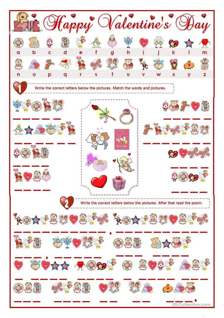 Valentine's Day Cryptogram Worksheet - Free Esl Printable Worksheets - Free Printable Cryptograms