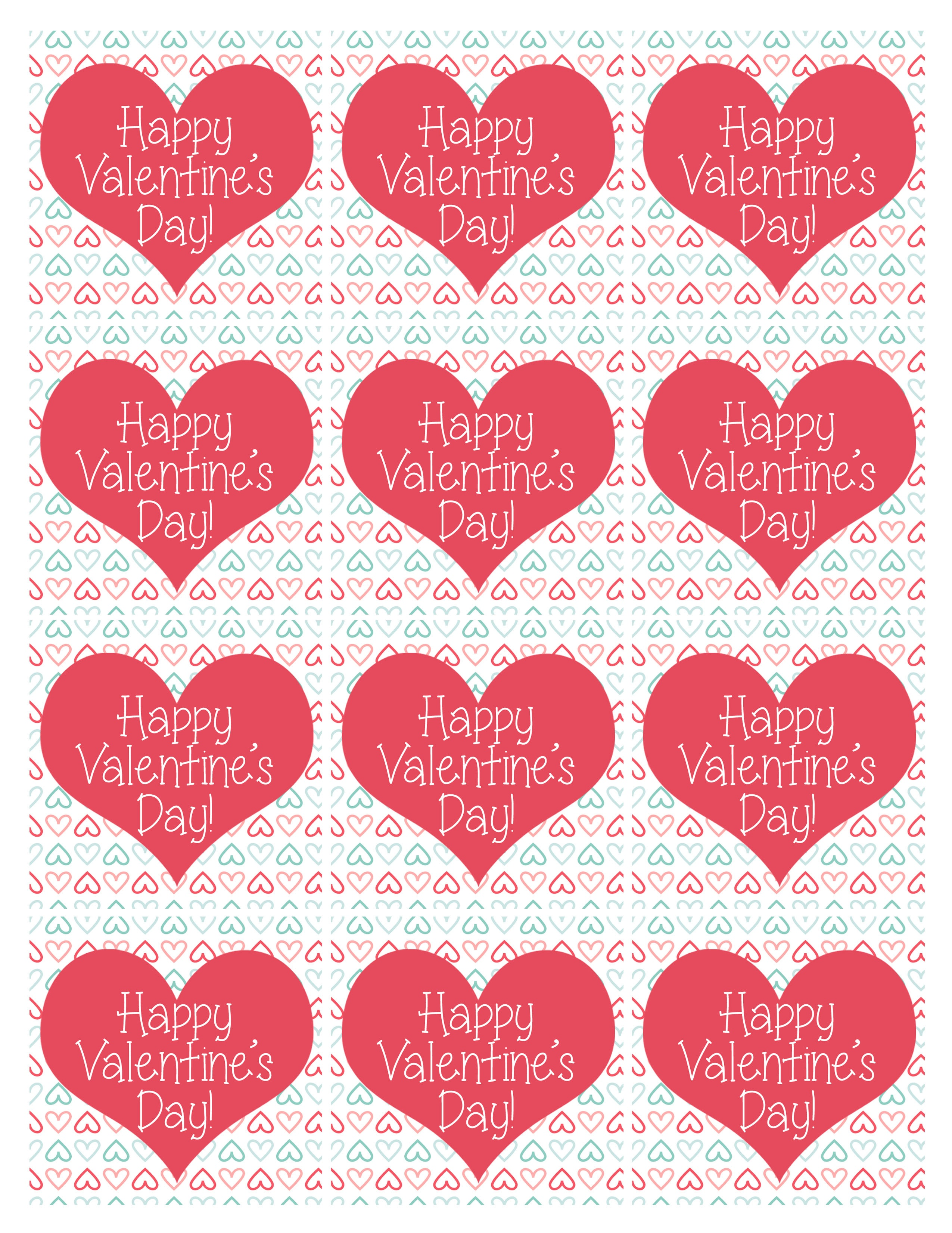Valentine's Day Party Free Printables - How To Nest For Less™ - Free Printable Valentine Heart Patterns