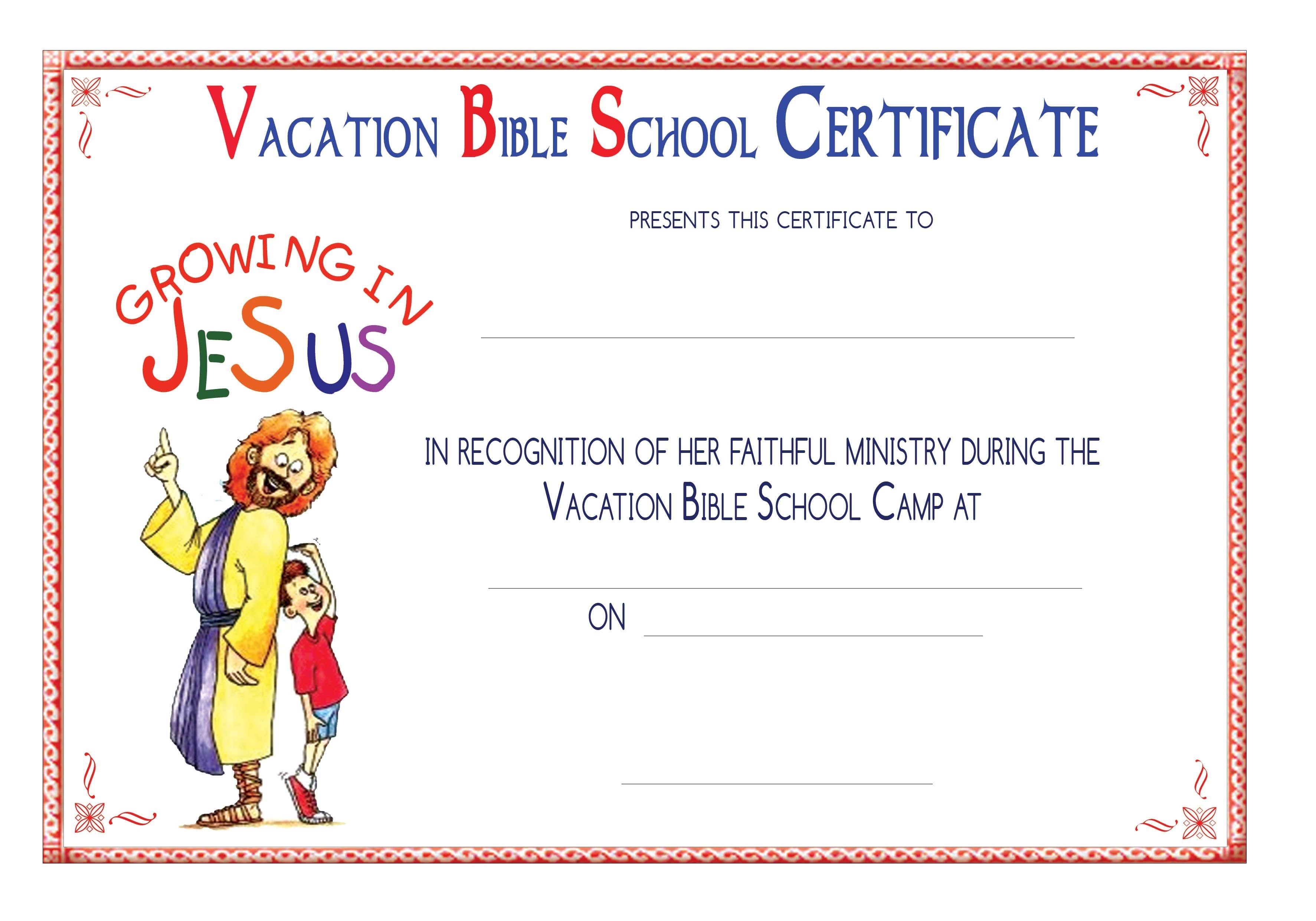 Vbs Certificate Templatesencephalos   Encephalos   Church - Free Printable School Certificates Templates