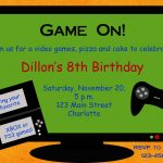 Video Game Party Invitation Template Free   Google Search | Party   Free Printable Video Game Party Invitations