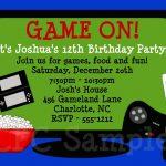 Video Games Birthday Invitation Video Game Birthday Party Invitation   Free Printable Video Game Party Invitations