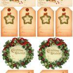 Vintage Christmas Gift Tags | Vintage Printables | Christmas Gift   Free Printable Vintage Christmas Clip Art