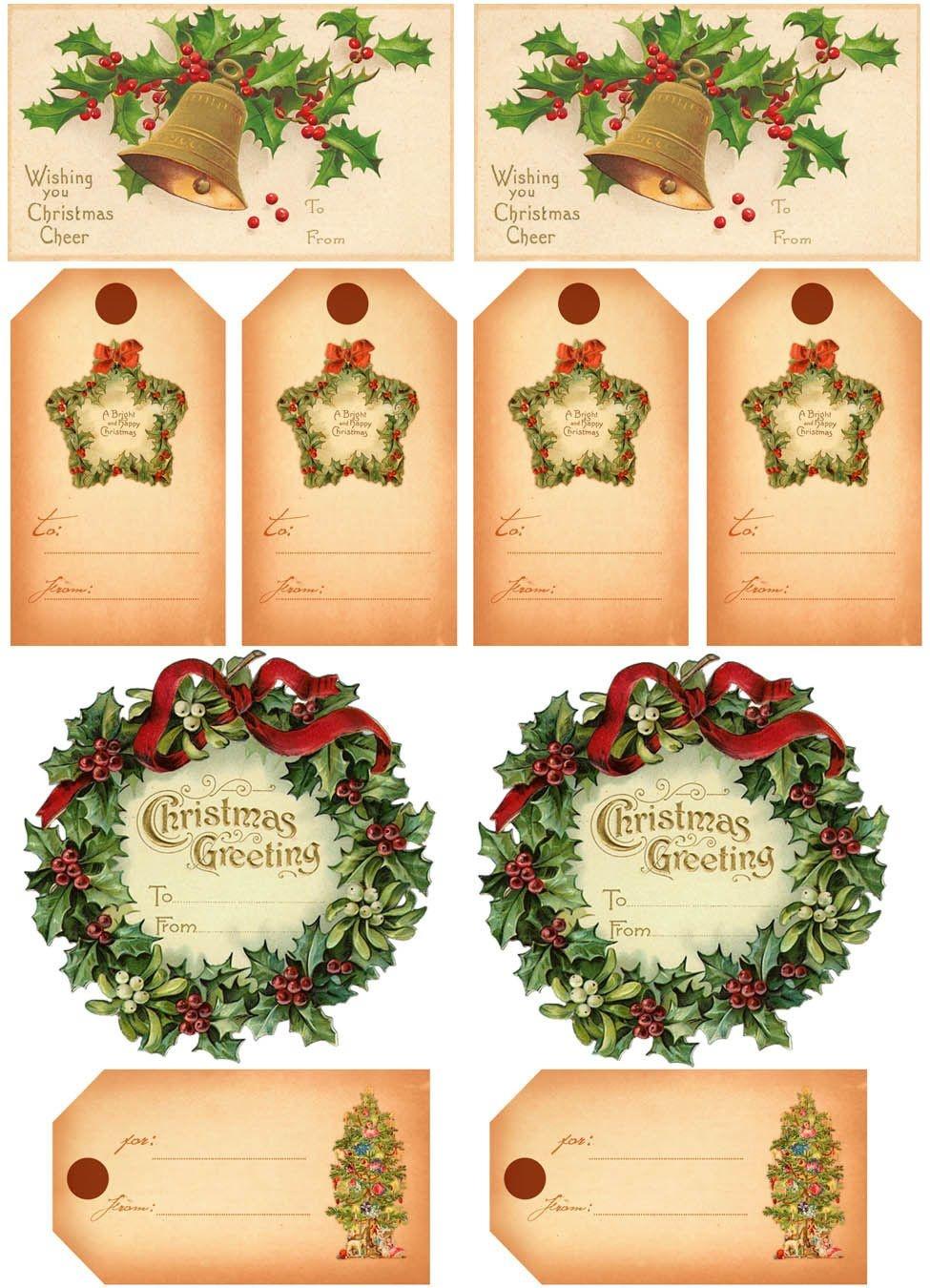 Vintage Christmas Gift Tags | Vintage Printables | Christmas Gift - Free Printable Vintage Christmas Tags For Gifts