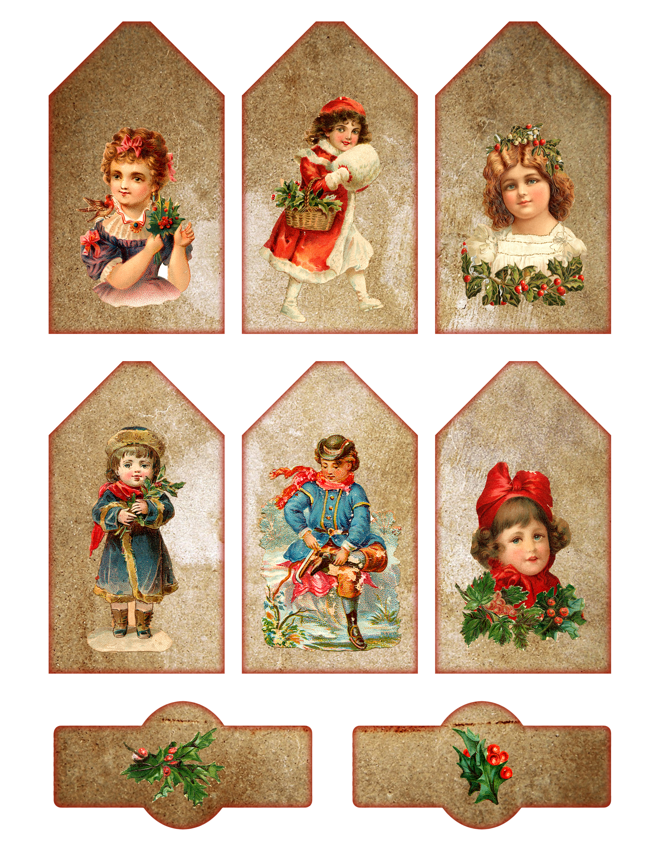 Vintage Printable Christmas Tags And Labels - The Graffical Muse - Free Printable Vintage Christmas Pictures