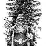 Vintage Santa Clipart, Vintage Printable Christmas, Free Black And   Free Printable Vintage Christmas Clip Art