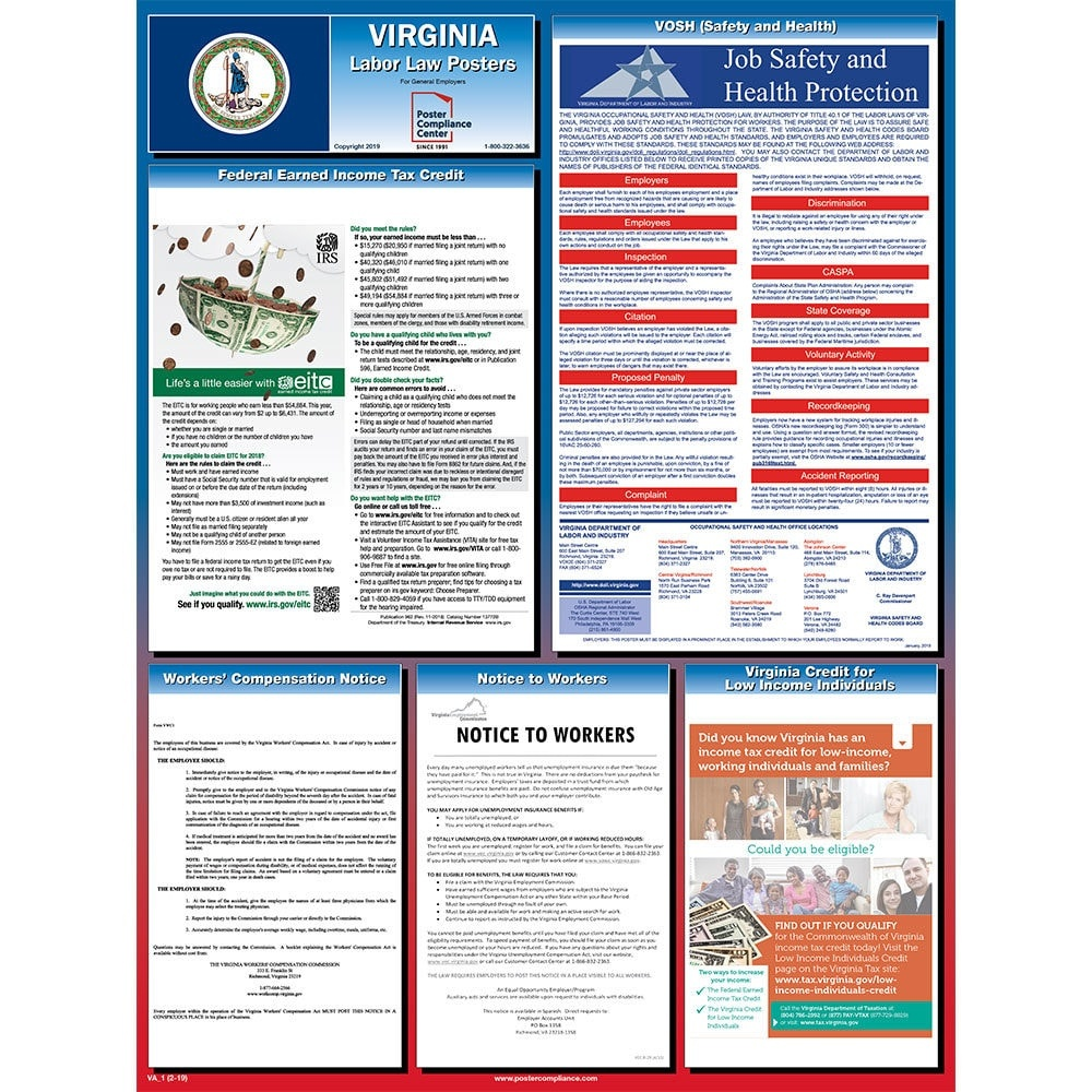 Virginia Labor Law Posters For 2019 | Poster Compliance Center - Free Printable Osha Posters