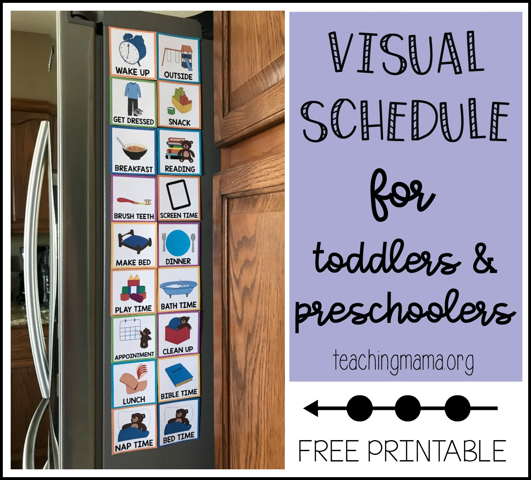Visual Schedule For Toddlers - Free Printable Visual Schedule For Preschool