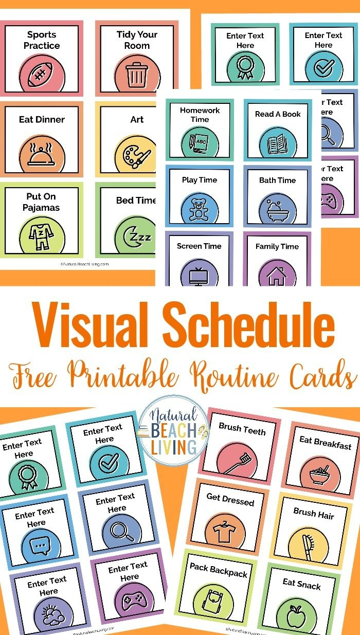 Visual Schedule - Free Printable Routine Cards   Diy   Visual - Free Printable Daily Routine Picture Cards