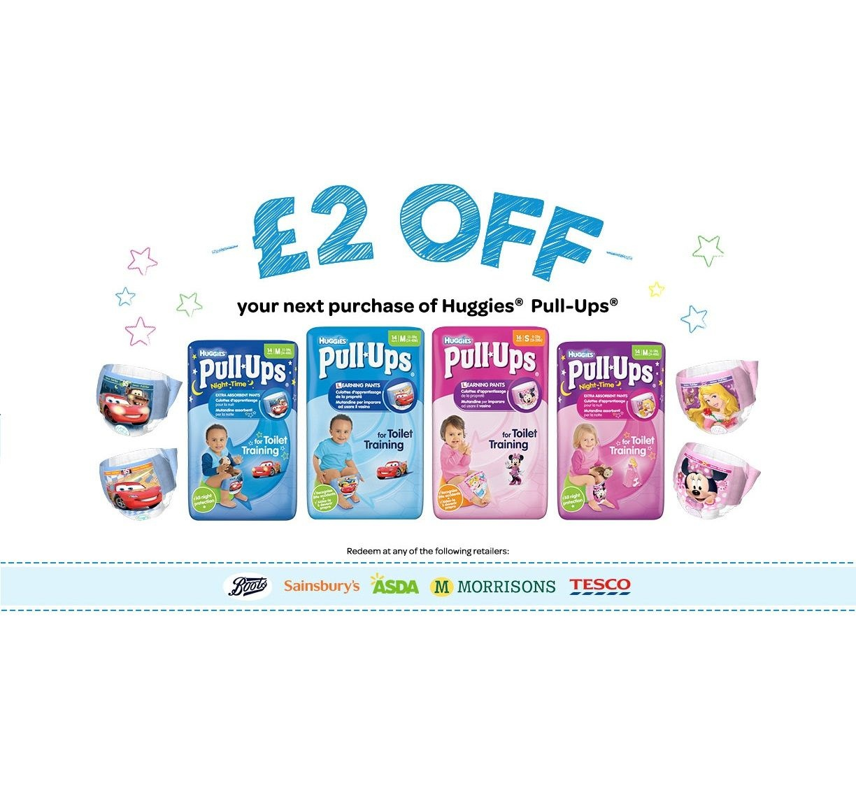 Voucher Code £2 Off Huggies Pull Ups | Freebies Of The Day Uk - Free Printable Coupons For Huggies Pull Ups