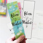 Watercolor Spring Bookmarks Free Printable   Free Printable Baby Bookmarks