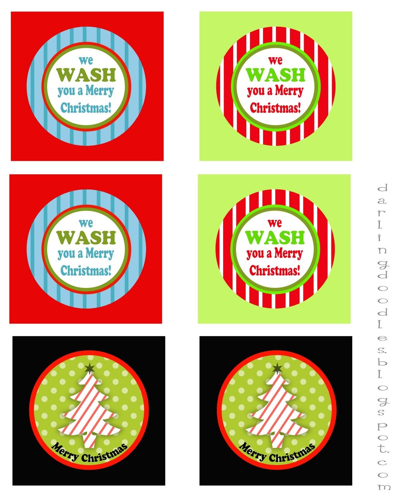 We Wash You A Merry Christmas Free Printable – Festival Collections - We Wash You A Merry Christmas Free Printable
