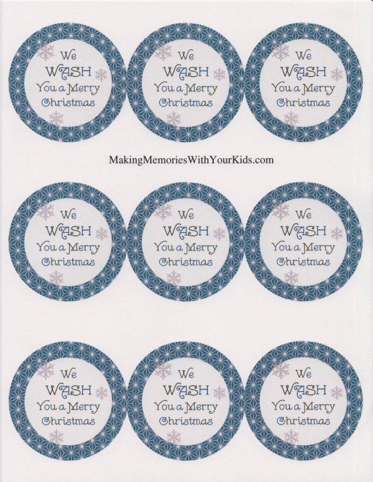 We Wash You A Merry Christmas Free Printable