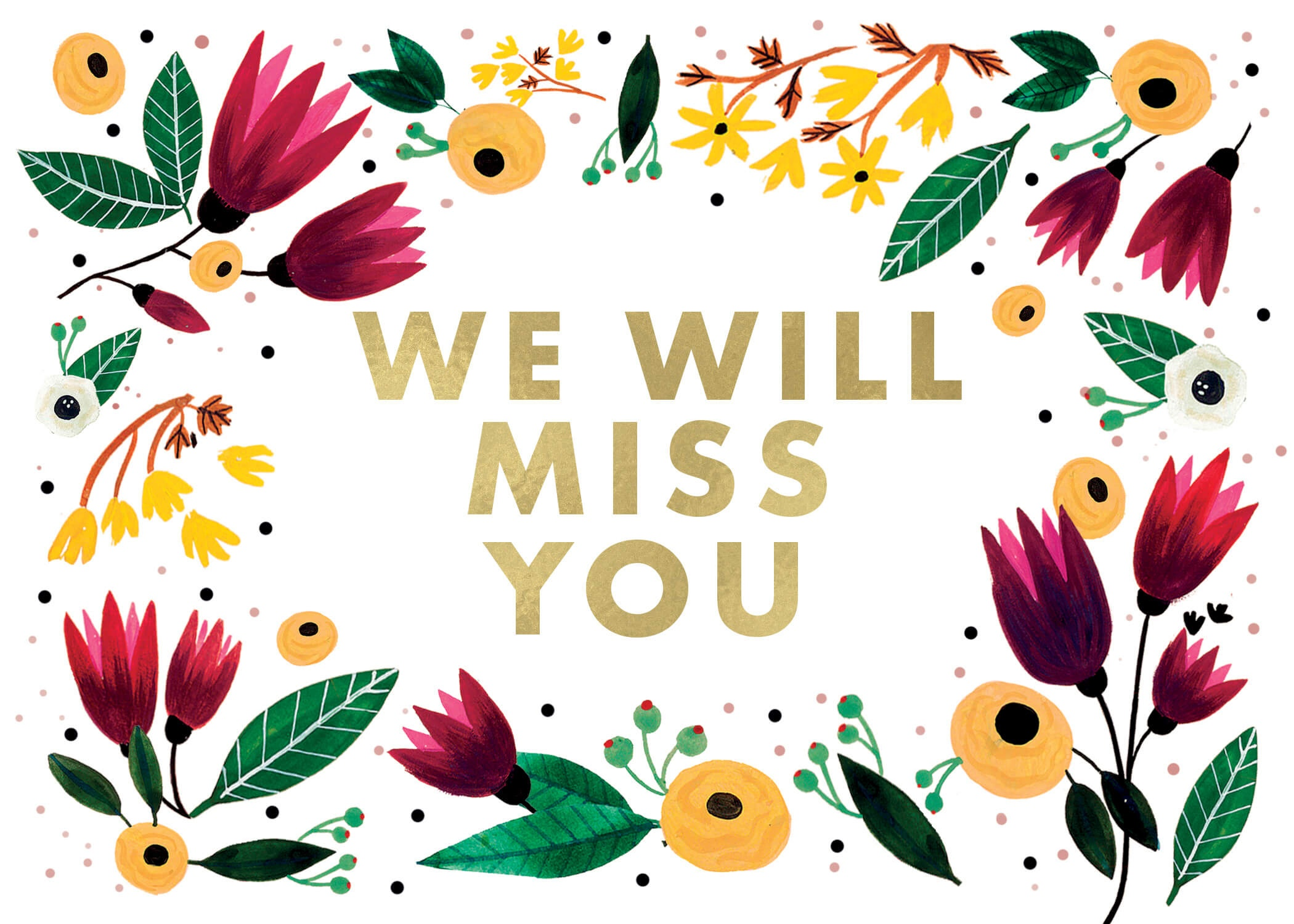 We Will Miss You - Miss You Card (Free) | Greetings Island - Free Printable We Will Miss You Greeting Cards