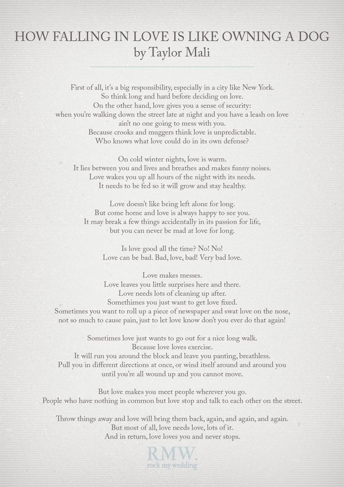 Wedding Readings - The Complete List With Free Printables | Wedding - Free Printable Love Poems For Him