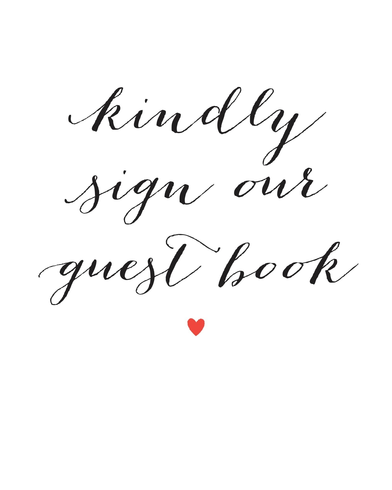 Wedding Signs Printables And Diy Templates Of Signs - Please Sign Our Guestbook Free Printable