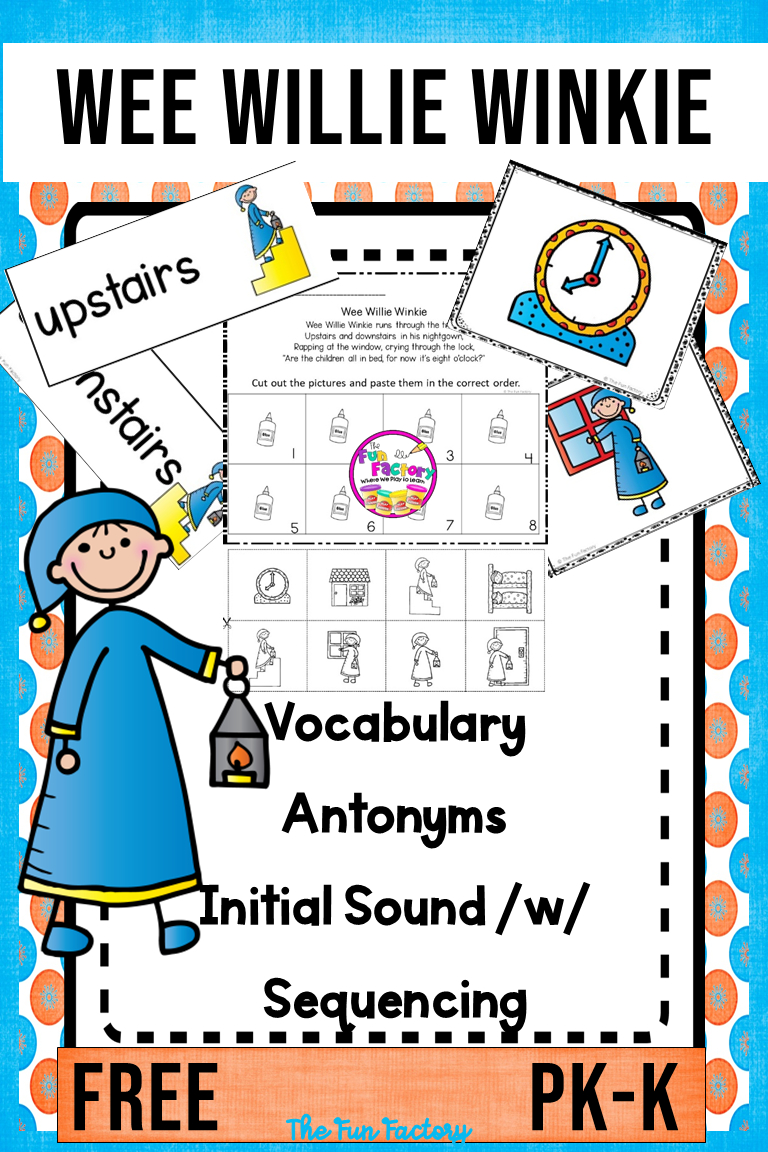 Wee Willie Winkie Nursery Rhyme Activities And Lesson Plans Free Pk - Free Printable Nursery Resources