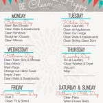 Weekly Cleaning Schedule {Free Printable} | Home Organization   Free Printable Cleaning Schedule