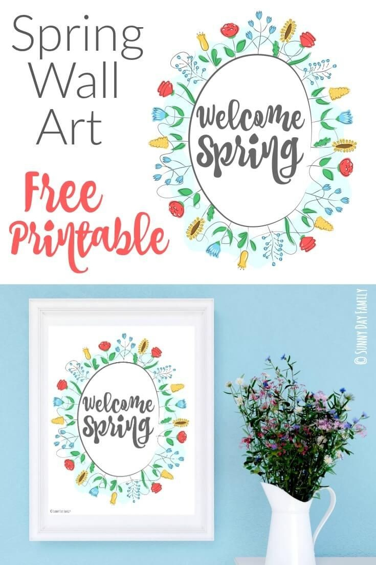 Welcome Spring: Free Printable Wall Art   Sunny Day Family   Welcome - Free Printable Spring Decorations