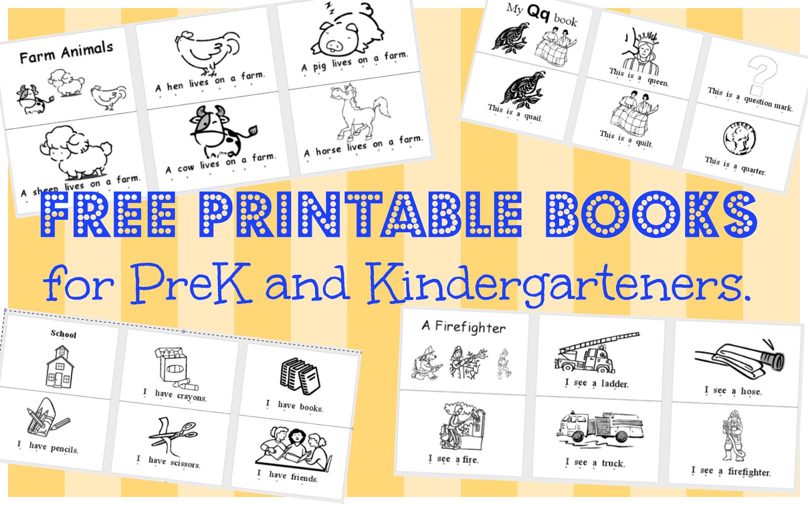 Wild Rumpus School House: *printable Books (Pk-K) - Free Printable Pre K Reading Books