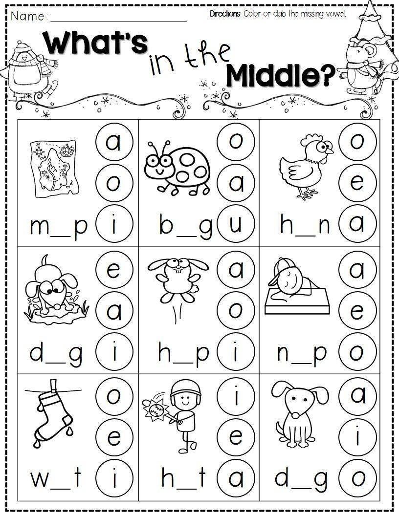 Winter Activities For Kindergarten Free   Kindergarten Literacy - Free Printable Kid Activities Worksheets