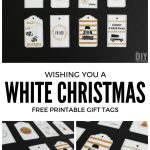 Wishing You A White Christmas Printable Gift Tags   Black And Gold   Christmas Gift Tags Free Printable Black And White