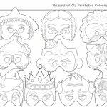 Wizard Of Oz Printable Coloring Masks,holidaypartystar On Zibbet   Free Printable Wizard Of Oz Masks