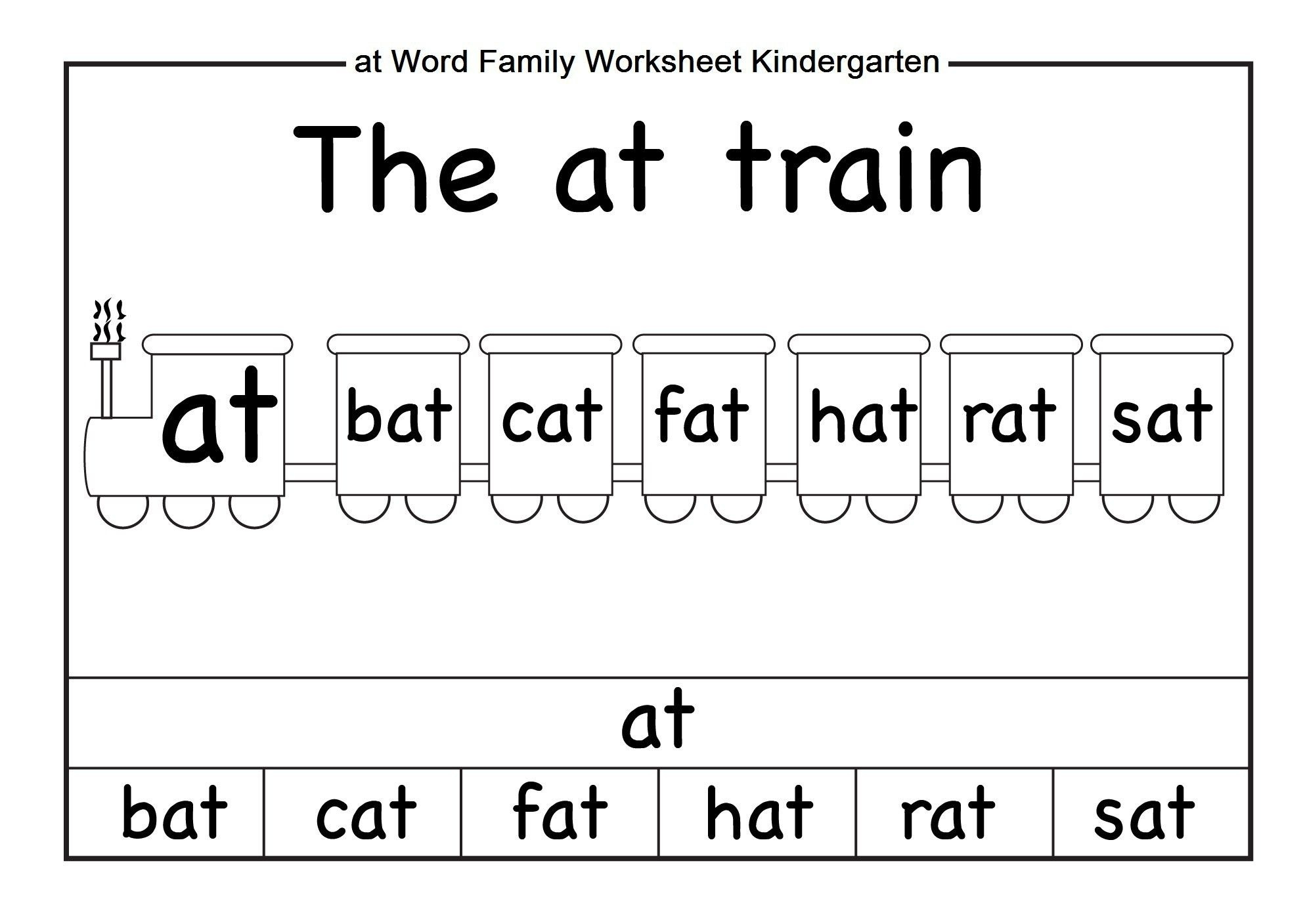 Word Family Worksheets Kindergarten | Briefencounters - Free Printable Word Family Worksheets For Kindergarten