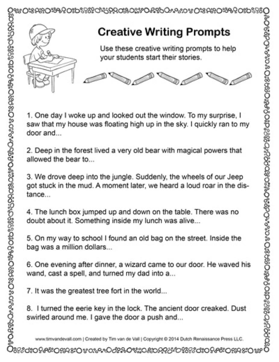 Worksheet : Free Printable Writing Sentences Worksheets For - Free Printable Short Stories For High School Students
