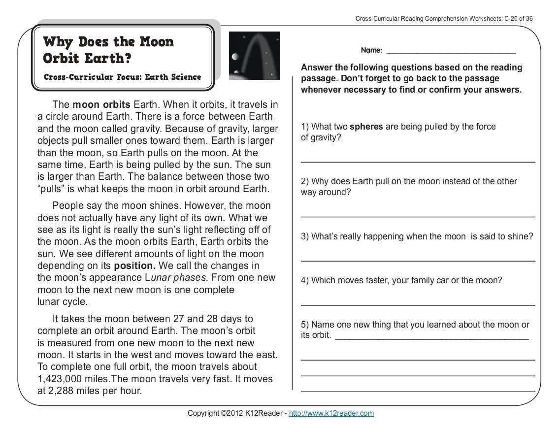 Worksheet : Kids Science Comprehension Worksheets Reading Comprehens - Free Printable Reading Comprehension Worksheets Grade 5