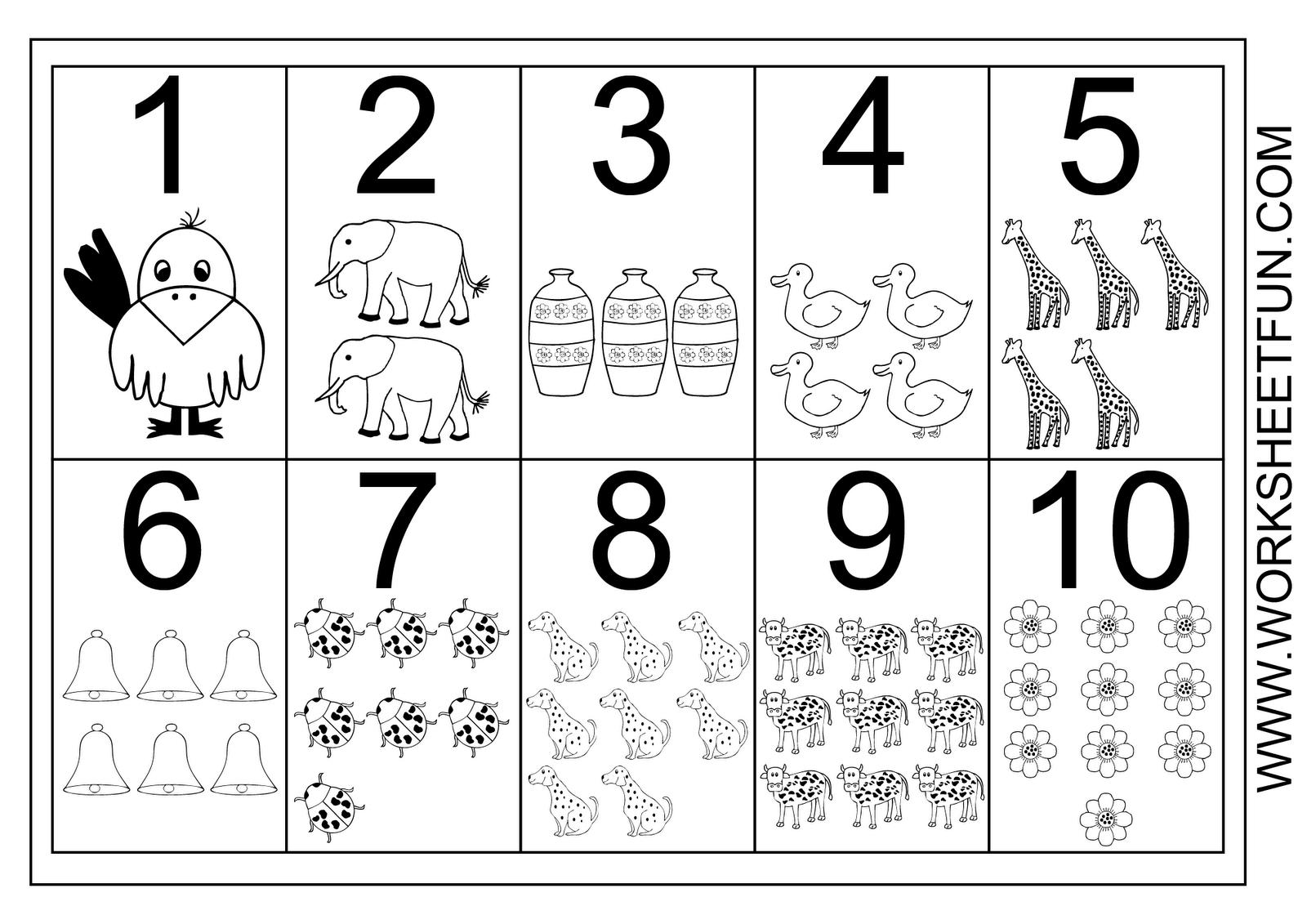 Worksheetfun - Free Printable Worksheets | Prek Math Ideas | Numbers - Free Printable Numbers 1 10