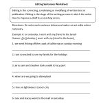 Worksheets. Paragraph Correction Worksheets. Cheatslist Free   Free Printable Sentence Correction Worksheets