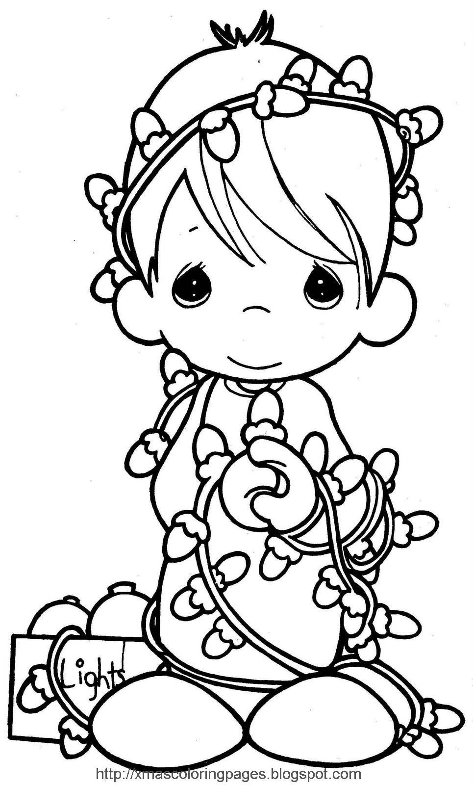 Xmas Coloring Pages: Angel Coloring Page | Color Sheets | Precious - Xmas Coloring Pages Free Printable