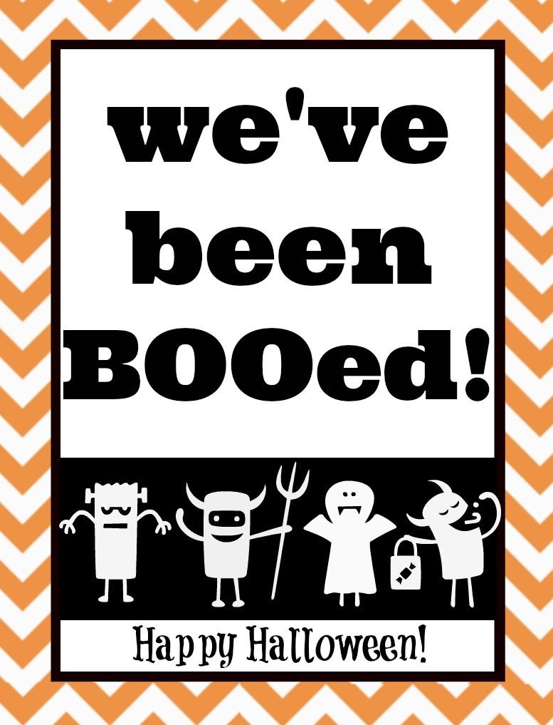 You've Been Booed! Mason Jar Gift & Free Printables   The Happier - We Ve Been Booed Free Printable