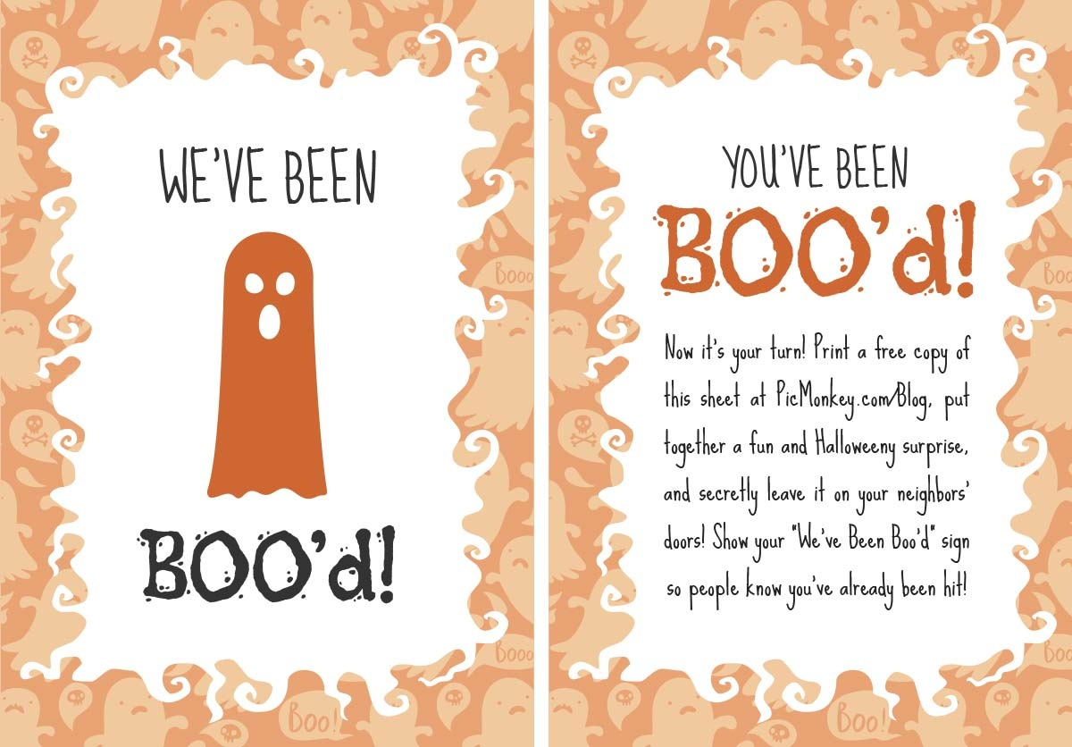 You've Been Booed Printables   Picmonkey Blog - We Ve Been Booed Free Printable